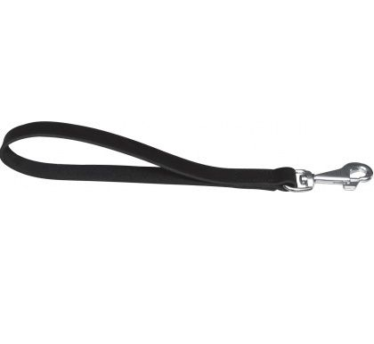 Basic Short lead 35cm - Black Leather
